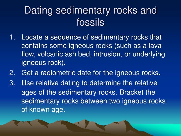 can you use radiometric dating on sedimentary rocks