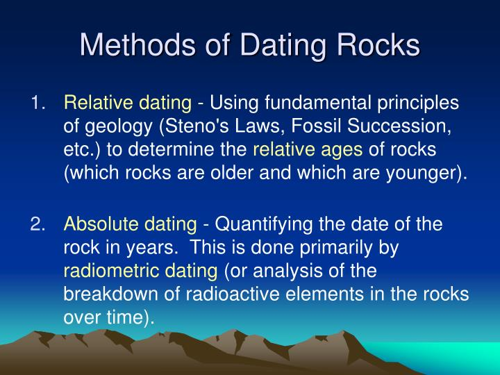 Three methods of radiometric dating
