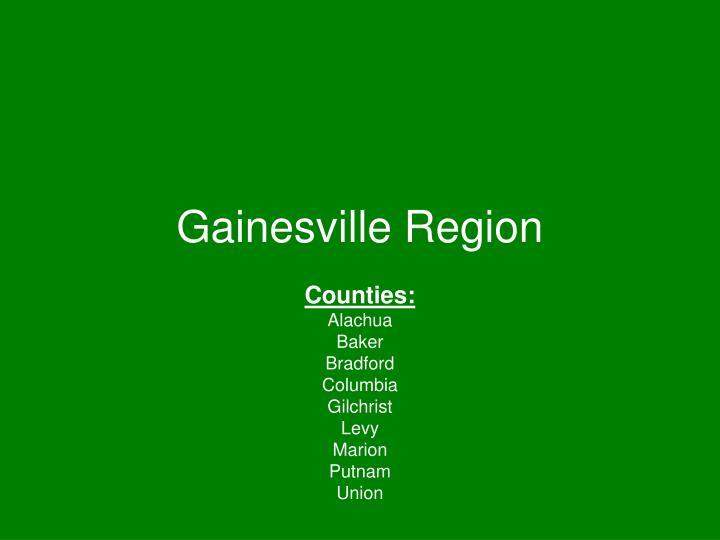 Gainesville region