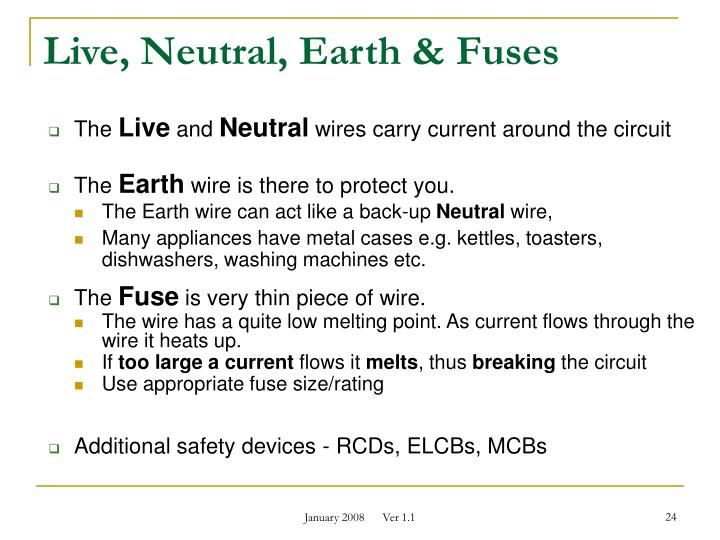 PPT - Basic Electrical Safety Faculty of Science & Health ...