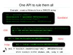 one api to rule them all