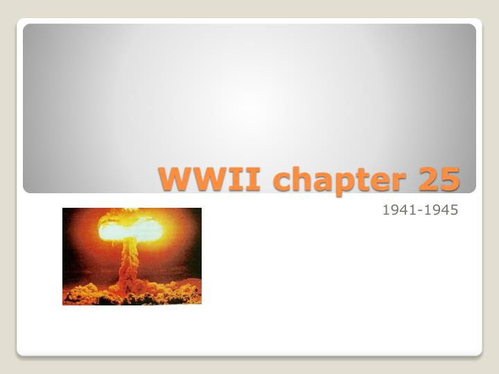 wwii chapter 25 n.