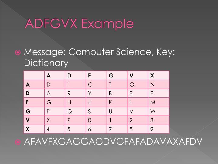 ADFGVX Example
