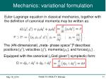 mechanics variational formulation