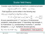 scalar field theory1