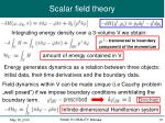 scalar field theory5