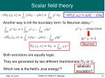 scalar field theory6