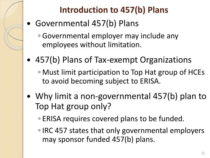 Introduction to 457(b) Plans