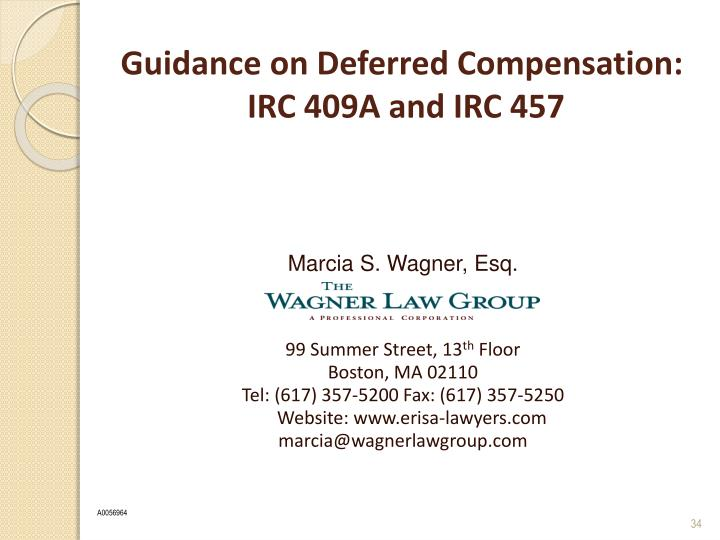 Guidance on Deferred Compensation: