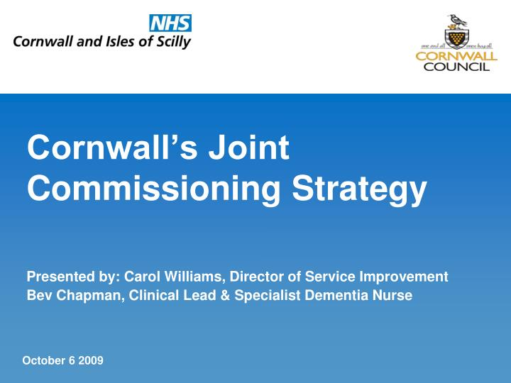 cornwall s joint commissioning strategy n.