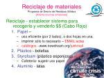 reciclaje de materiales programa de desv o de residuos s lidos ahorra muchas emisiones