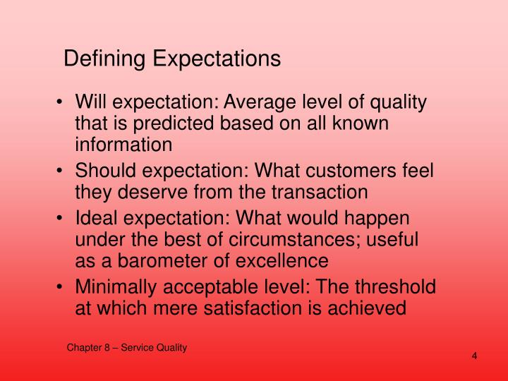 Defining Expectations