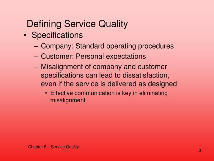 Defining Service Quality