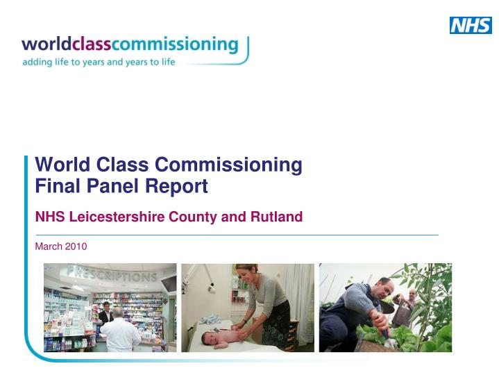 world class commissioning final panel report n.