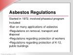 asbestos regulations