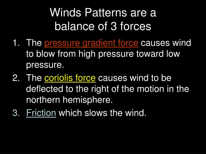 Winds Patterns are a