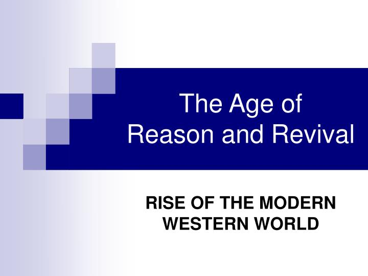 the age of reason and revival n.
