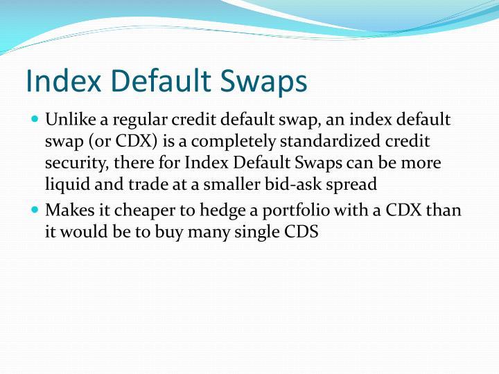 Index Default Swaps