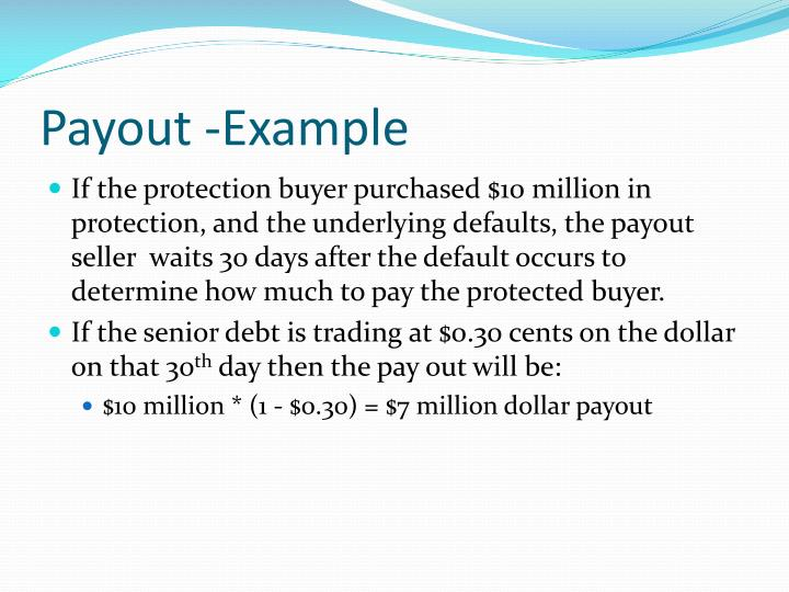 Payout -Example