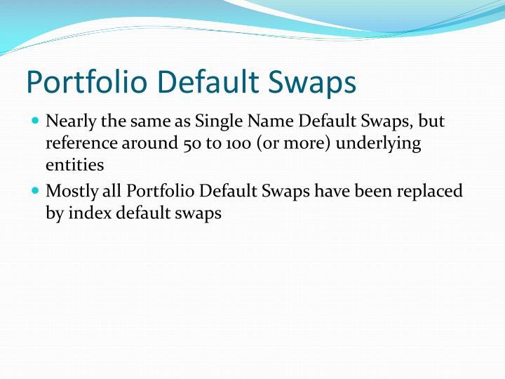 Portfolio Default Swaps
