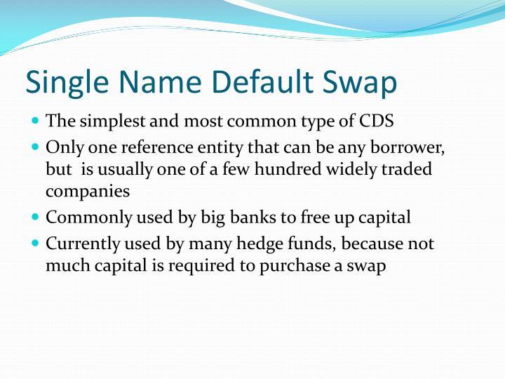 Single Name Default Swap