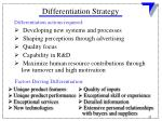 differentiation strategy