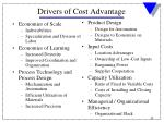 drivers of cost advantage