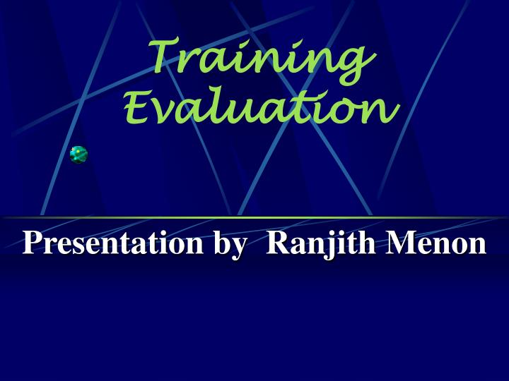 training evaluation n.