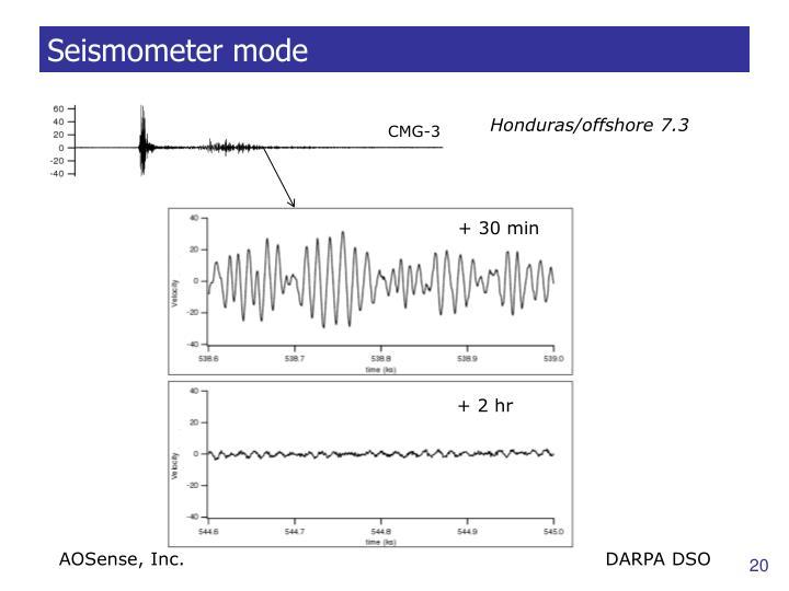 Seismometer mode
