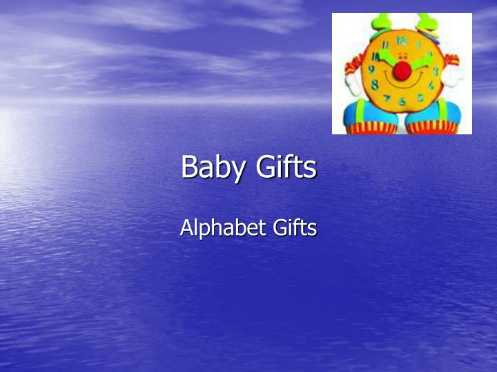 baby gifts n.