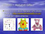 contact alphabet gifts