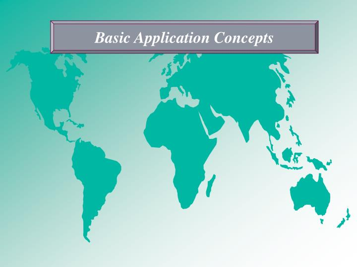 Basic Application Concepts