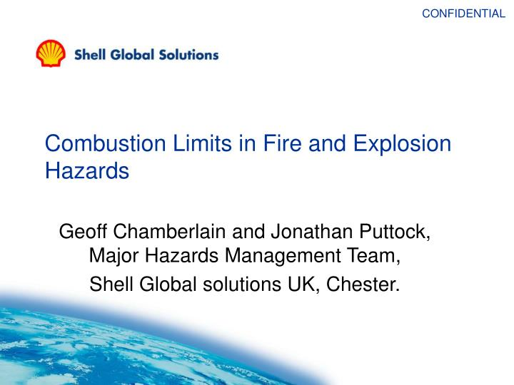 combustion limits in fire and explosion hazards n.