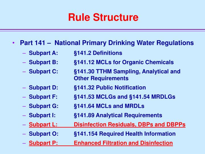 Rule Structure