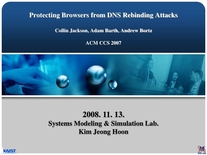 protecting browsers from dns rebinding attacks collin jackson adam barth andrew bortz acm ccs 2007 n.