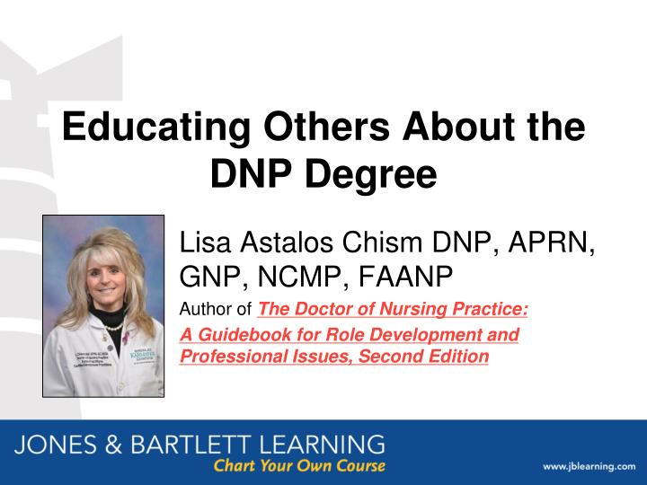 educating others about the dnp degree n.