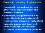 economic inequality explanations