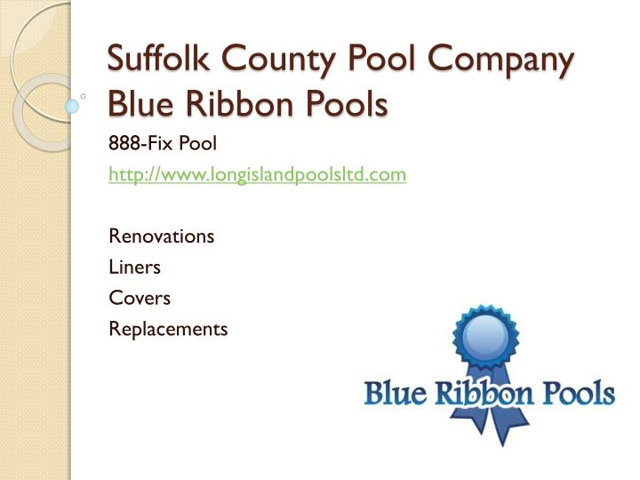 Suffolk county pool company blue ribbon pools