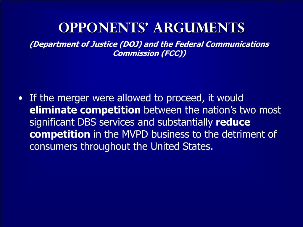 (Department of Justice (DOJ) and the Federal Communications Commission (FCC))