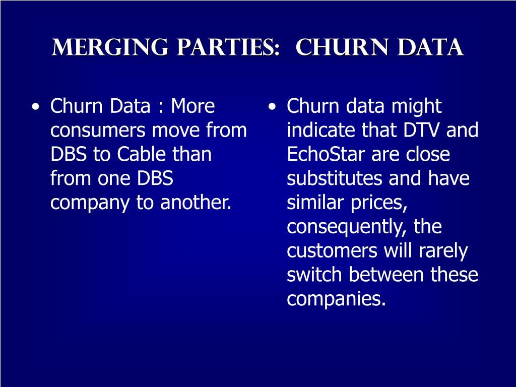 Merging parties:  Churn Data