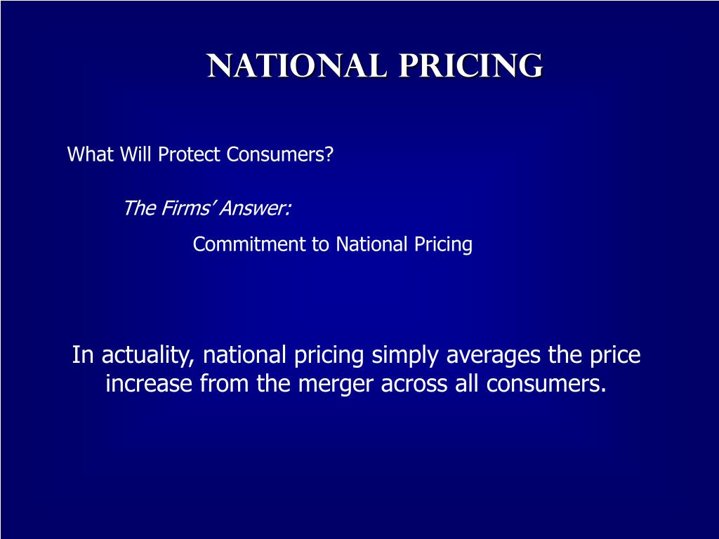 National Pricing