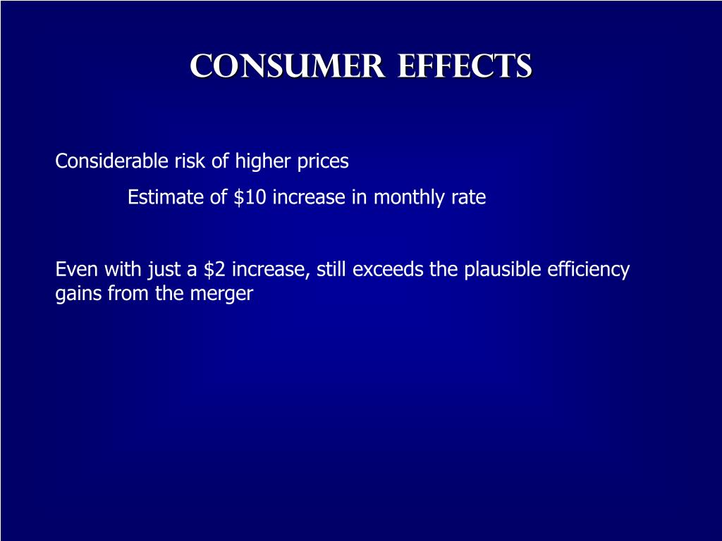 Consumer Effects