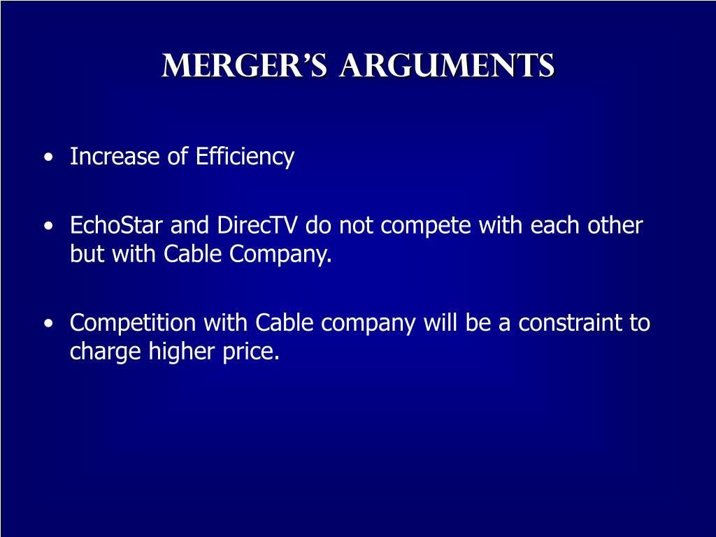 Merger's Arguments