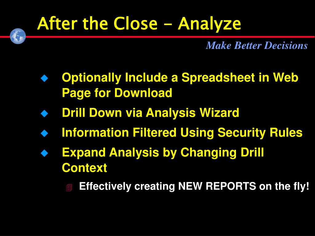 After the Close - Analyze
