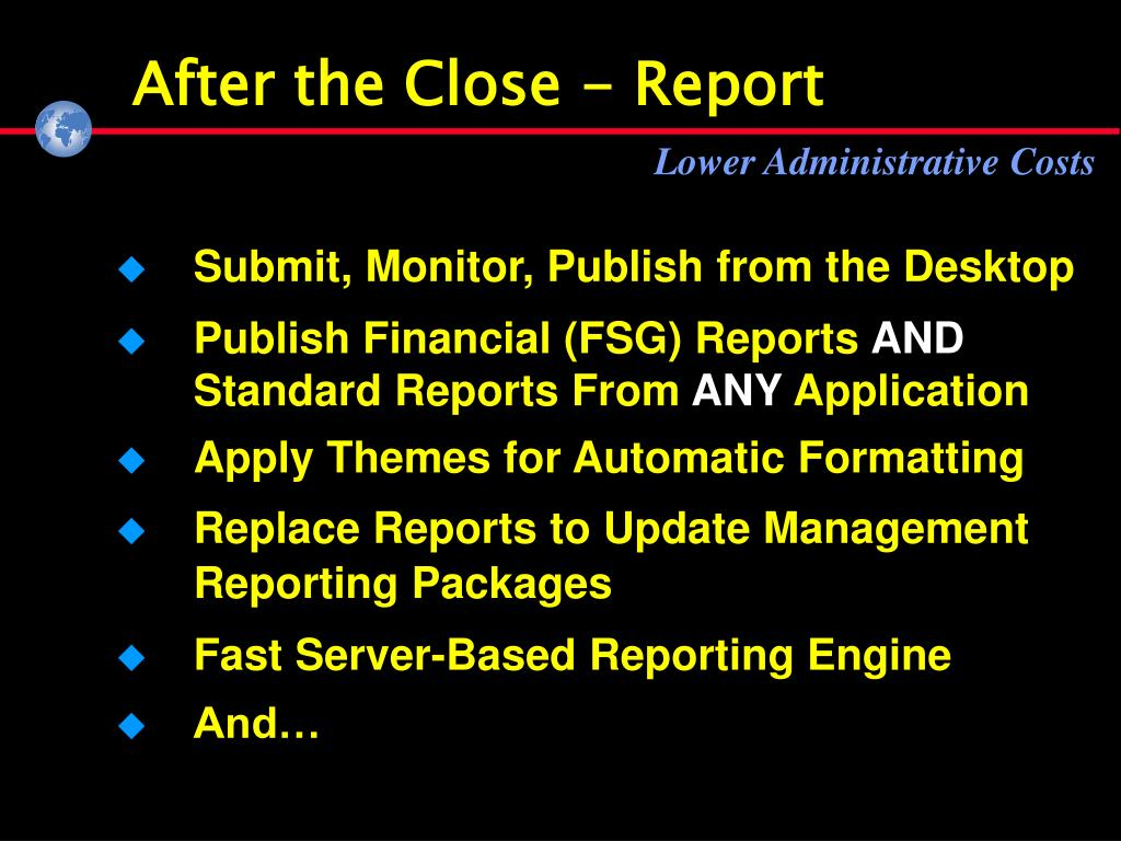 After the Close - Report