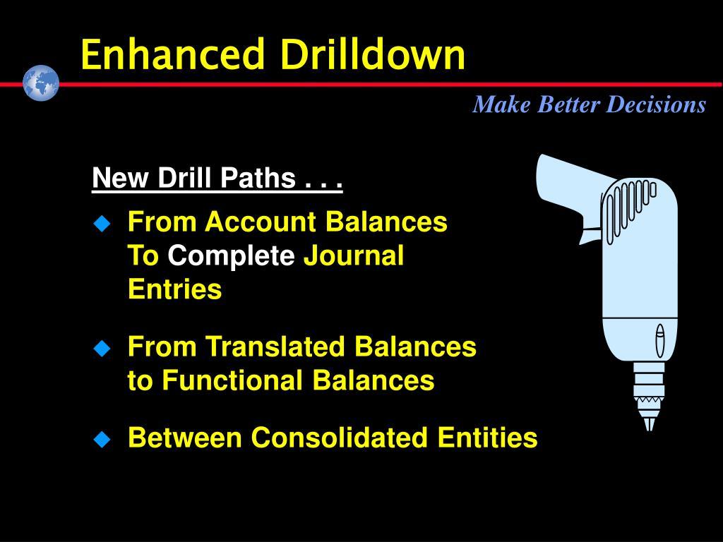 Enhanced Drilldown