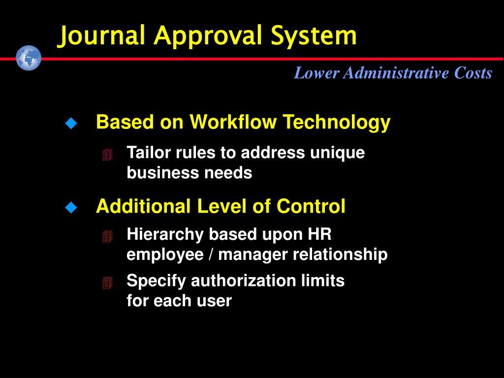Journal Approval System