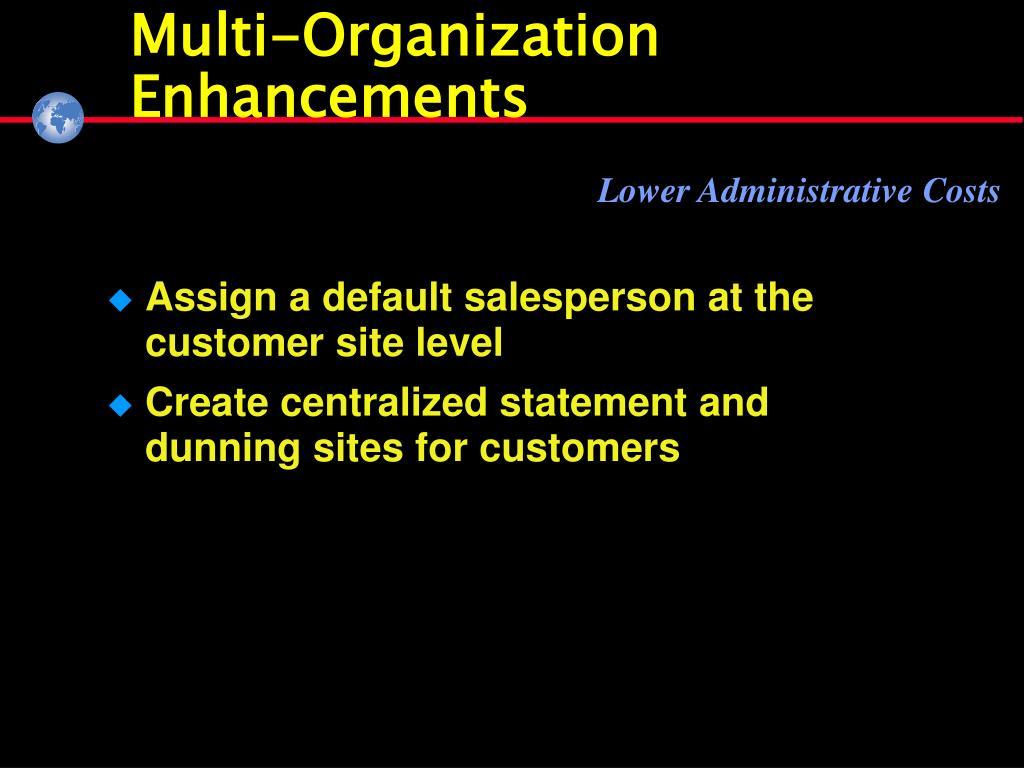 Multi-Organization Enhancements