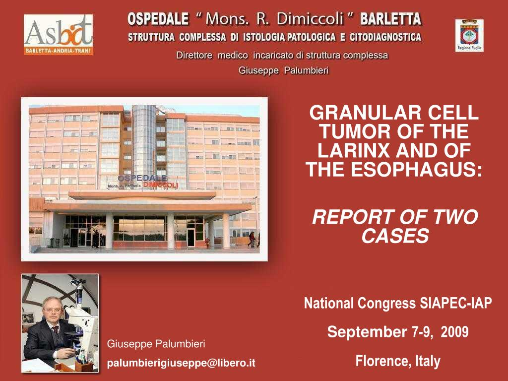 granular cell tumor of the larinx and of the esophagus report of two cases l.