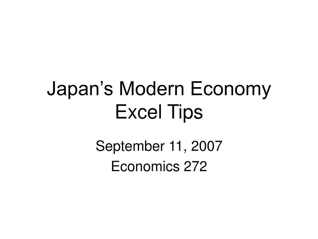 japan s modern economy excel tips l.